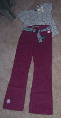 GAP Western Butterfly Pant & Top Super Outit Girls Sz 14 Regular NWT