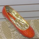 Flat Orange Shoe