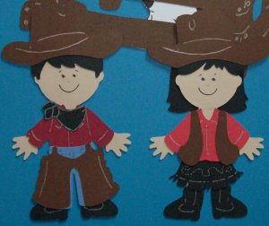 """3"""" Cowboy and Cowgirl"""
