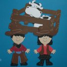 "3"" Cowboy and Cowgirl Set"