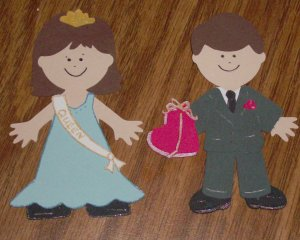 """3"""" Customized Prom King and Queen"""