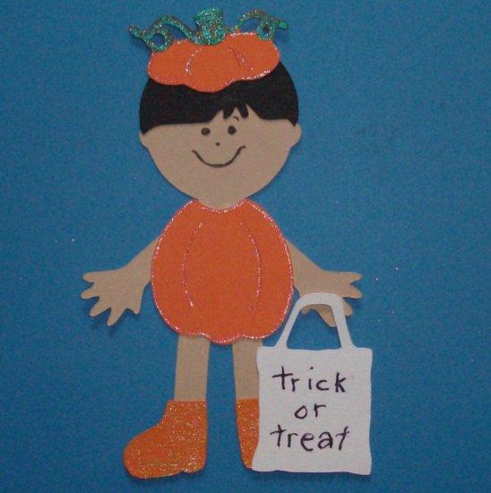 "3"" Customized Pumpkin Trick or Treater"