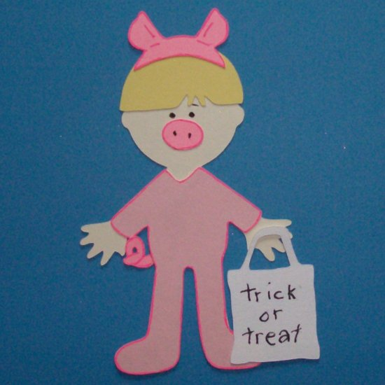 """3"""" Customized Pig Trick or Treater"""