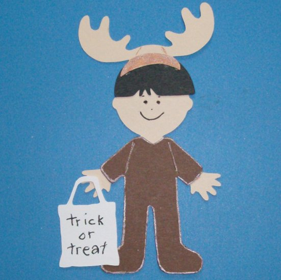 "3"" Customized Moose Trick or Treater"
