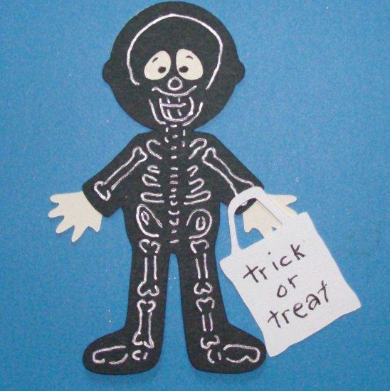 "3"" Skeleton Trick or Treater"