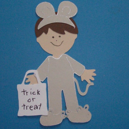 "3"" Customized Mouse Trick or Treater"