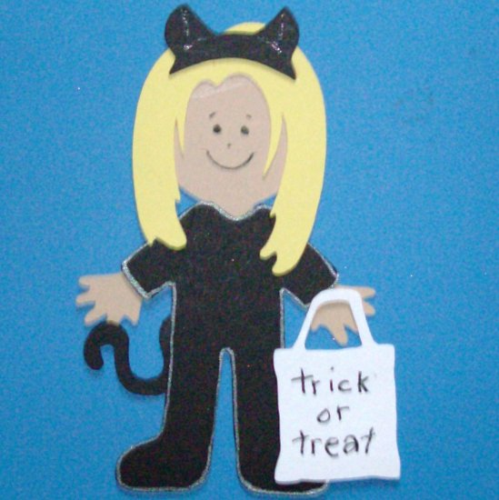 """3"""" Customized Cat Trick or Treater"""