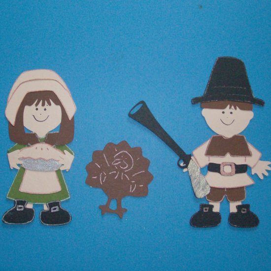 "3"" Customized Pilgrim Couple - 3 pcs"