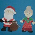 """3"""" Santa and Mrs. Claus"""