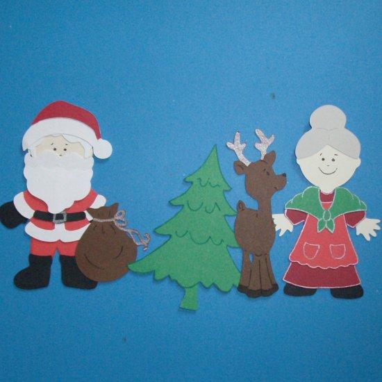 """3"""" Santa and Mrs. Claus Set"""
