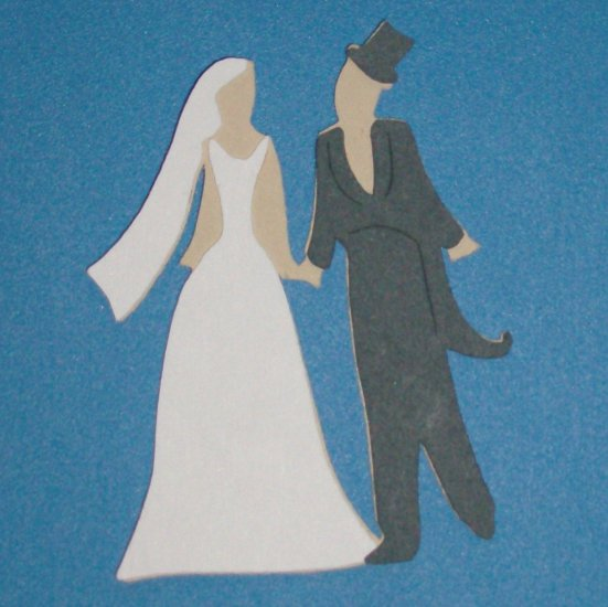 "3"" Bride and Groom"