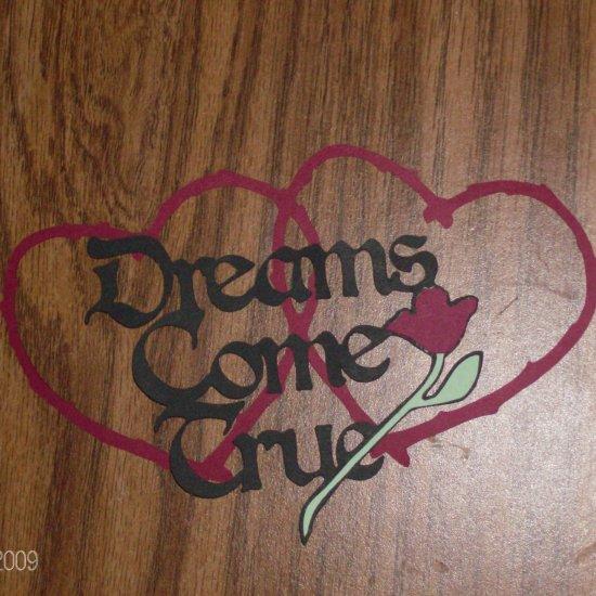 "3"" Dreams Come True Set Die Cut"