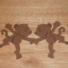 "3"" Monkey Couple Die Cut"