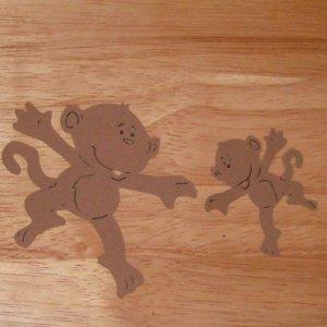 Monkey Pair Die Cut