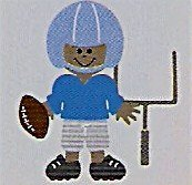 "3"" Customized Football Player"
