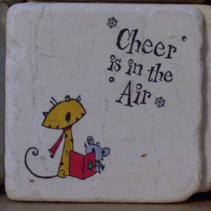 """""""Cheer Is In The Air"""" Coasters - Set of 4"""