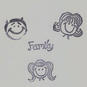 """Family"" Coasters - Set of 3 -3 Member layout"