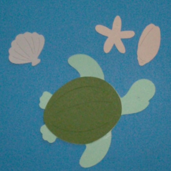 """3"""" Sea Turtle and Shells Die Cuts"""
