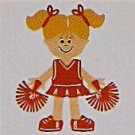 "3"" Customized Cheerleader"
