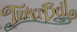 """1 1/2""""  Tinkerbell's Name Plate"""