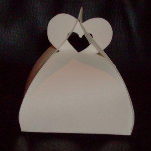 Customized Heart Favor Box (unfolded)