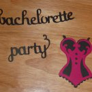 Customizable Bachelorette Party Words and Lingerie