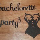 Customizable Bachelorette Party Words and Solid Lingerie