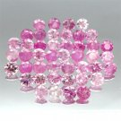 10.80CT.HOT PINK SAPPHIRES NATURAL FIREY PINK GEMS 3.8MM
