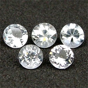 1.95 Ct. 5 Pcs Excellent Natural White TOPAZ Unheated Brazil