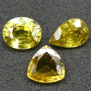 1.2Ct.UnHeated Mixed Titanium Natural Sphene Red Spark