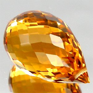 9.26 Ct.Greatful Briolette Drill Orange Citrine UnHeated