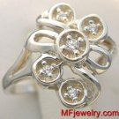 WHITE GOLD DIAMOND RIGHT HAND COCKTAIL RING lr31 SZ 3-9
