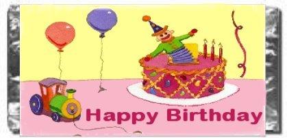 Birthday Candy Bar Wrapper Bd025