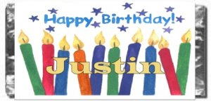 Birthday Candy Bar Wrapper Bd027