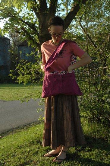Purple and Polka Dot Boho Bag
