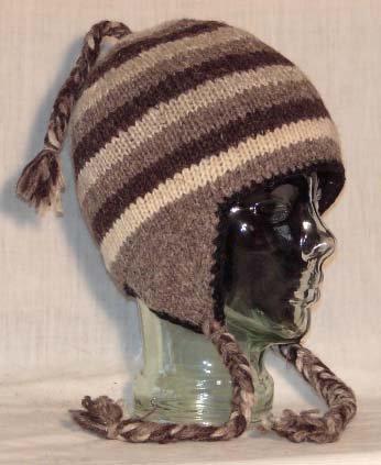 10 Wool Sherpa Ear Flap Beanie Hats (Fleece Lining)