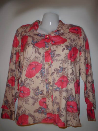 70's Hand-made Polyester shirt