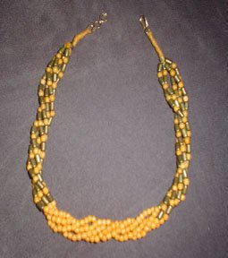 70's Orange-Brown Beaded Necklace