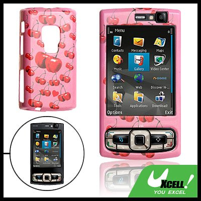 Cherry Hard Plastic Case Cover Pink for Nokia N95 8GB