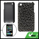 Anti-Slip Hard Plastic Back Case for Apple iPhone 3G