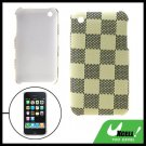 Protective Back Grid Pattern Plastic Case for iPhone 3G