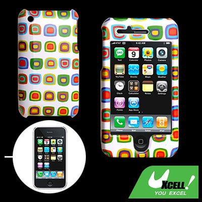 D Pattern Design Hard Plastic Case Cover for Apple iPhone 3G