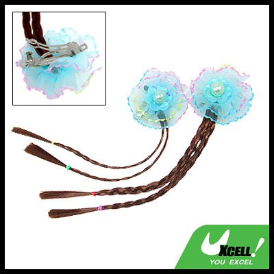 Lovely Girls' Hair Clip jewelry with Extension Hairpiece