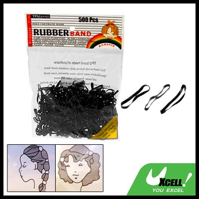 Hair Rubber Bands for Ponytails and Braids Black