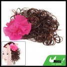 Curly Girls Clip Extension Wig Hairpiece with Flower