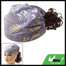 Charming Girls Brown Curly Wig Hairpiece with Cap Hat Bandana