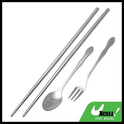 Stainless Steel Tableware Chopsticks Spoon Fork Cutlery Set