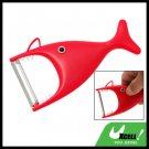 Fish Shaped Stainless Steel Blade Fruit Vegetable Peeler Red
