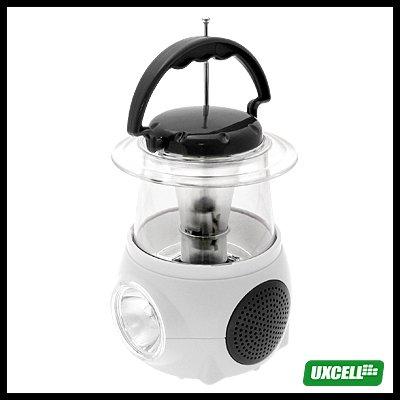 Mini Camping Lamp with Digital FM Radio (CW-239) - White