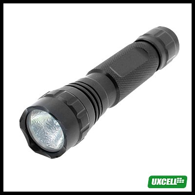 Micro 6V Powerful Aluminum Xenon Bulb Torch for Camping Hiking - Black